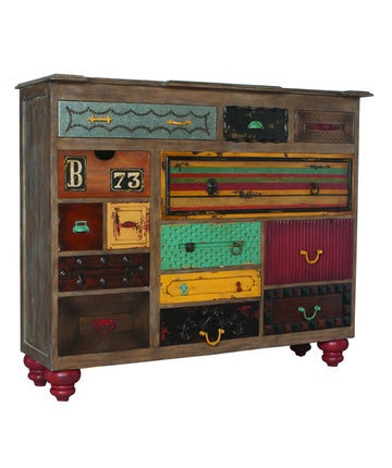 Stylish Mosaic Treasures Chest Of Drawers Colorful Painted Lots Of Storage