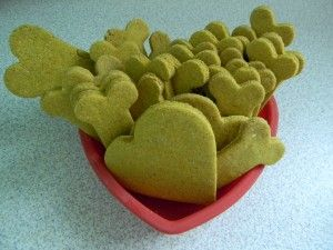 Pumpkin peanut butter dog cookies recipe from Doggies and Stuff