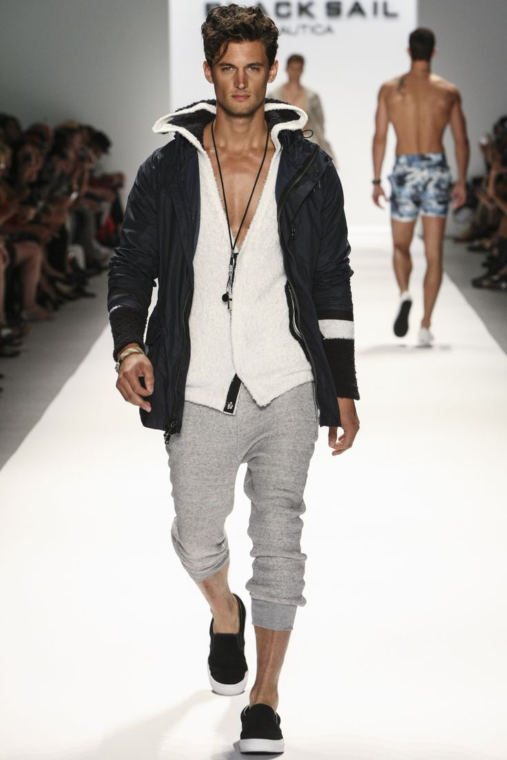 Nautica Men's Spring 2014 Black Sail Fashion Show Nautica Men Spring