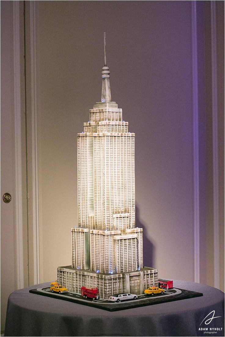 Empire State Building Wedding Cake