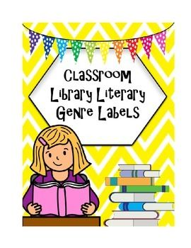 These labels are color-coded literary genre labels for your classroom library book baskets.  I laminate these labels onto index cards, and put two binding rings through the card and the loops in the basket.  They last forever that way, and I have gotten a few years out of the same labels!To label my books, I use a large scrap-booking hole punch and punch dots that are the corresponding colors.