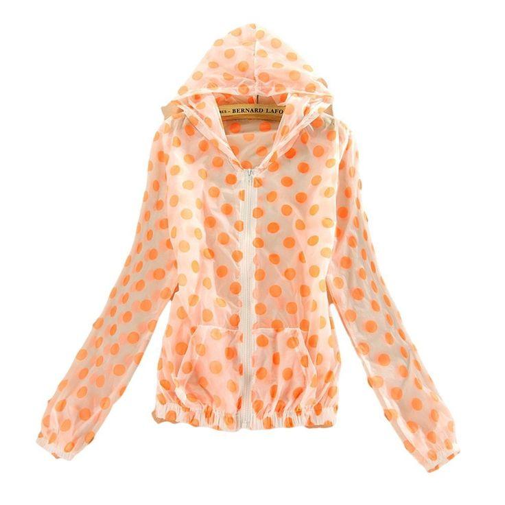 Amazon.co.jp: ドット 柄 ラッシュ ガード パーカー UV 水玉 レディース (オレンジ): 服&ファッション小物