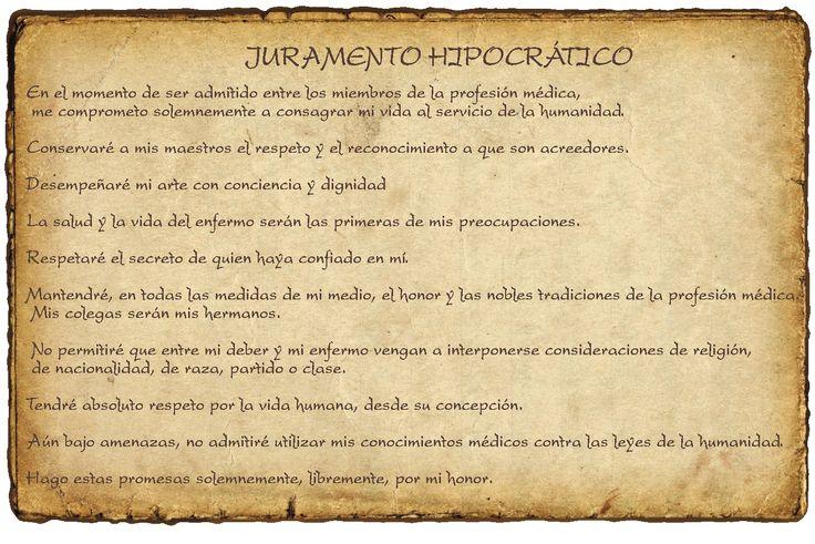 Juramento hipocrático / verbos en #futuro