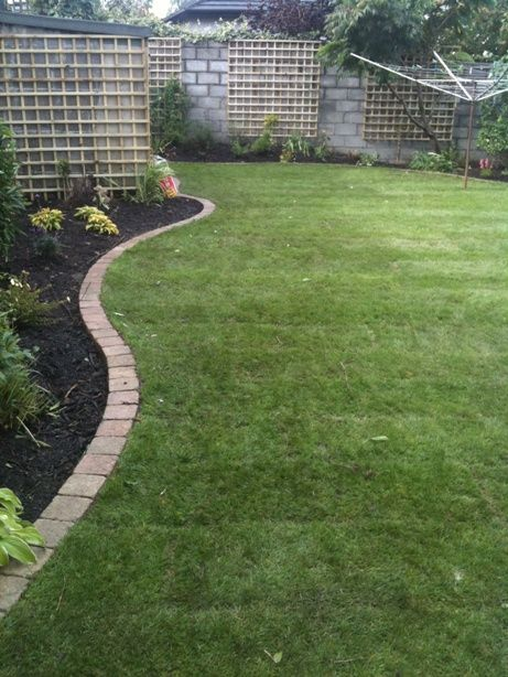 Image detail for garden landscaping lawn mowing edge for Grass border