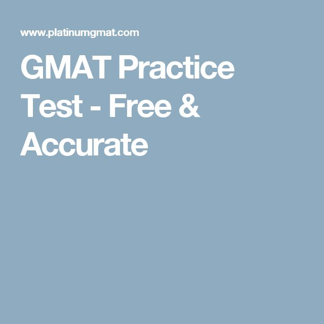 GMAT Practice Test - Free & Accurate