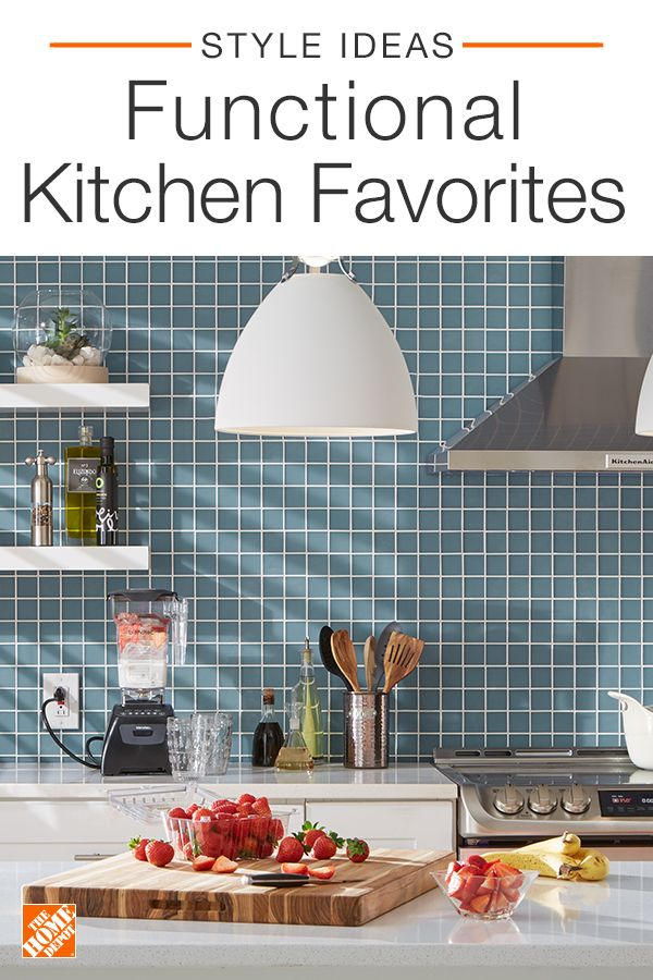 Simply update your kitchen or dining room by adding personality with functional favorites and bold accessories. And don't shy away from color when tackling your next kitchen project! Click to shop all kitchenware at The Home Depot.