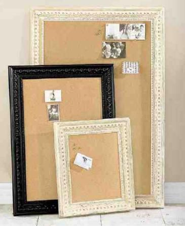 Pretty framed cork boards