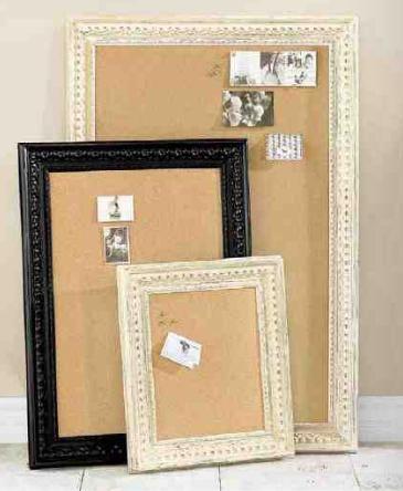 Pretty framed cork boards