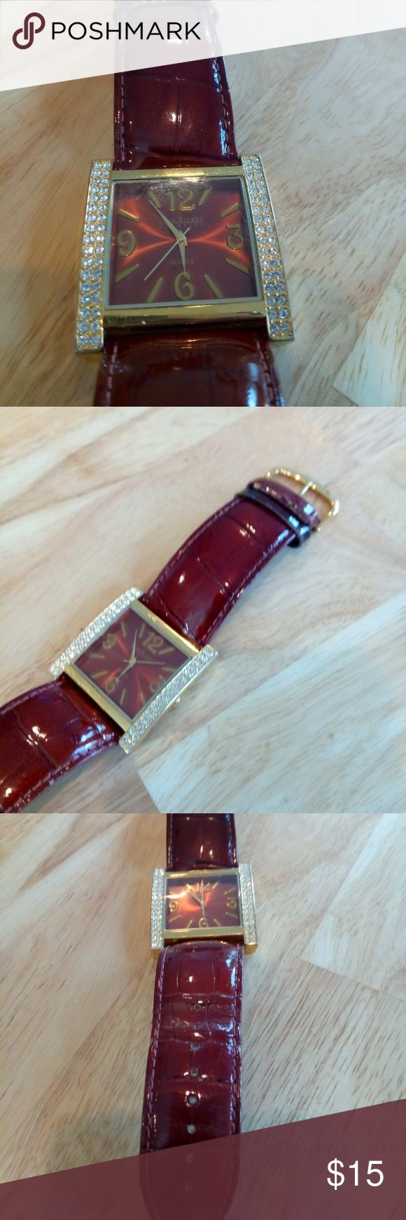 Joan Rivers Watch Cute, chunky Joan Rivers watch.  New battery.  Very good used condition. Wear on the strap loop....see last photo. Jewelry