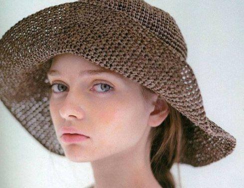 Patrones de crochet para sombreros de verano modelo Panamá ala ancha