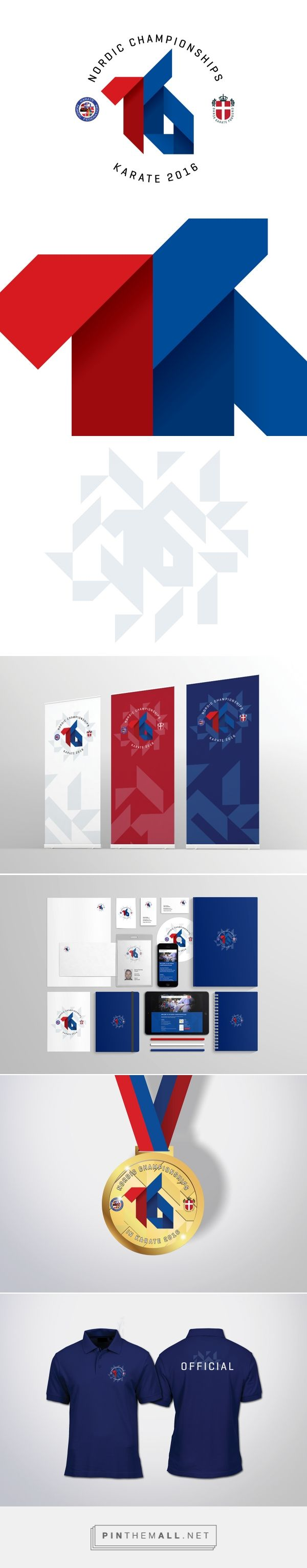 Nordic Championships Karate 2016, visual identity on Behance