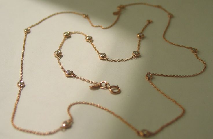 18ct Rose Gold and Diamond Necklace and Bracelet