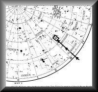 Starmap of the southern sky showing Zeta Reticuli system in relation to the south celestial pole. - The Zeta Reticuli Star System, Report from there, 1991