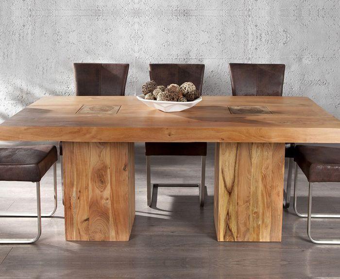 Стол деревянный с толстыми ножками, дерево, дерево в интерьере, массив, изделия из дерева, изделия из массива, Бигвуд