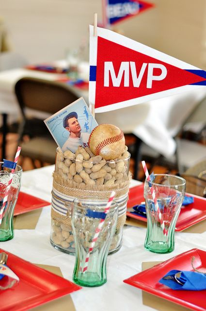 "Photo 3 of 20: Vintage Baseball / Baby Shower/Sip & See ""Vintage Baseball Baby Shower"" 