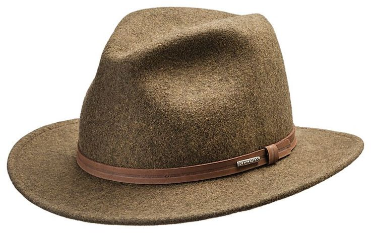 Stetson Explorer Crushable Fedora Hat for Men | Bass Pro Shops
