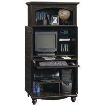 walmart sauder computer armoire antiqued black paint