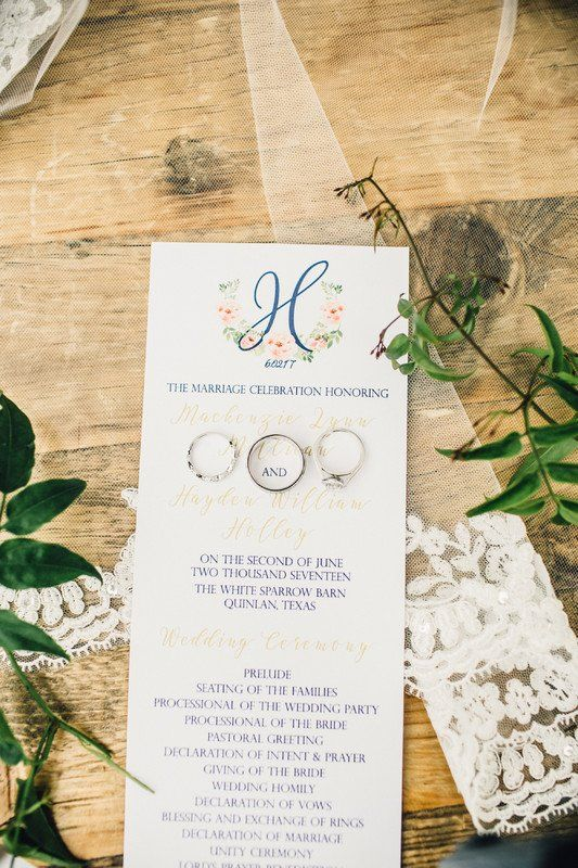 Preppy #wedding #stationery - monogram stationery with floral motif {MK Event Boutique}