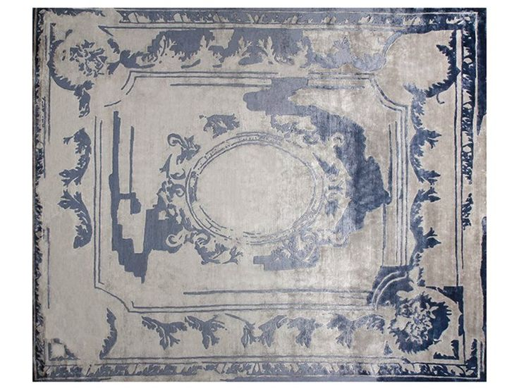 Handmade Custom Rug Fontenay New Age Navy By Edition Bougainville