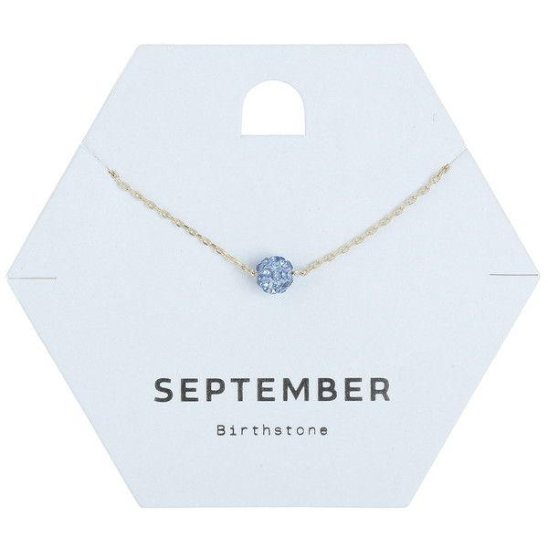 Miss Selfridge September Birth Stone Necklace ($11) ❤ liked on Polyvore featuring jewelry, necklaces, navy, miss selfridge, navy jewelry, navy blue jewelry, stone necklace and stone jewellery