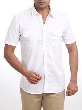 Go for this cool, crispy casual shirt by Raymond and you are sure to admire your wardrobe collection. This shirt will spice up all your formal as well as informal occasions. This designer shirt features a broad collar with short sleeves. The shirt has buttoned pockets on both sides and a center full button placket. This casual shirt is made from good quality cotton, which makes you feel comfortable all day long. This shirt is sure to make you look smart and presentable. This casual shirt is…