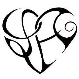 Tattoo Heart L + A, heartigram tattoo - TattooTribes.com