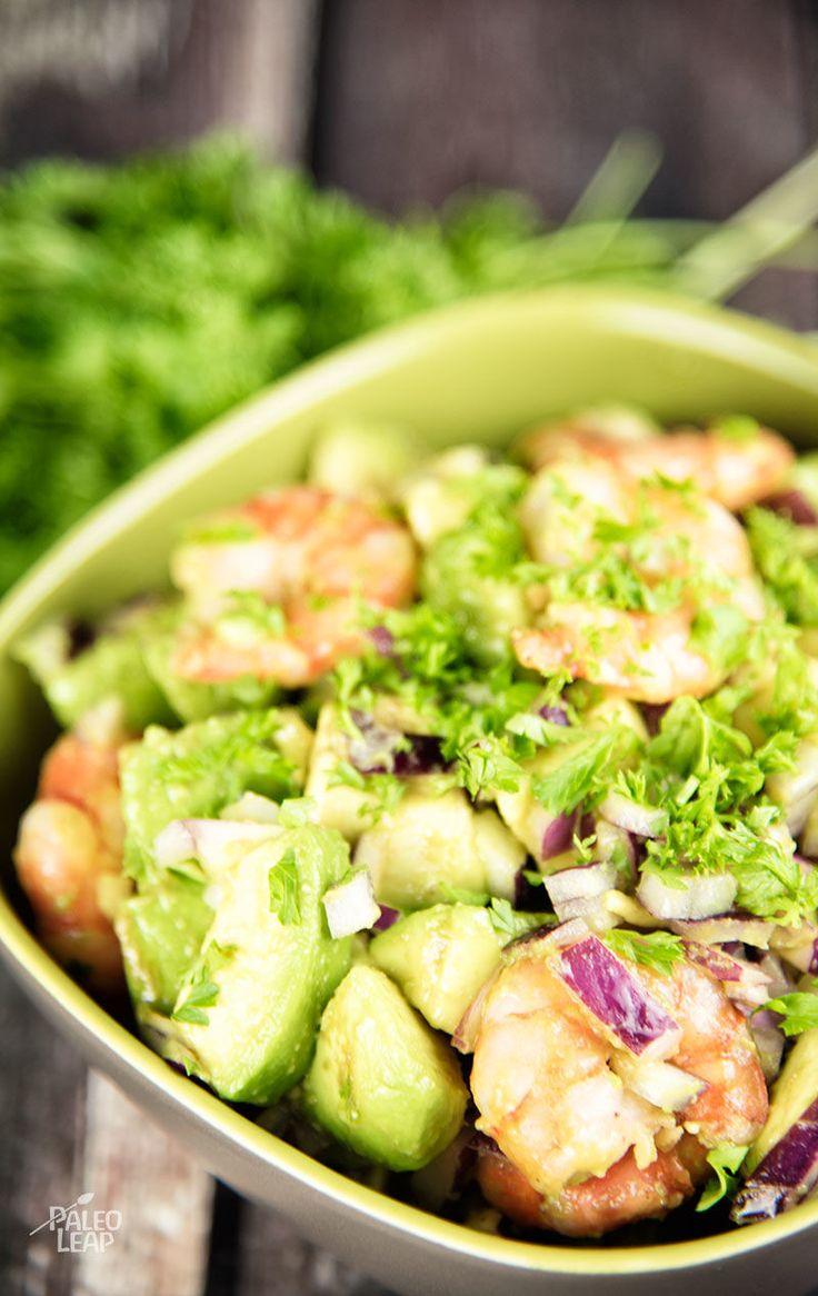 Shrimp And Avocado Salad #Paleo