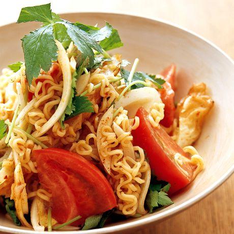 タイ風インスタントラーメンサラダ   井澤由美子さんのおつまみの料理レシピ   プロの簡単料理レシピはレタスクラブニュース
