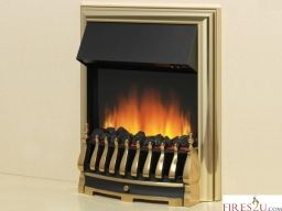 The Flamerite Tyrus Electric Fire is an inset electric fire with a 35mm inset depth. Tyrus has a manual control panel along with a concealed heater having 2 heating settings and 1kw/2kw heating capacity. Tyrus electric insert fire is available in two colour finishes silver or brass with fuel bed available in coal or pebbles or Twigs & Embers.