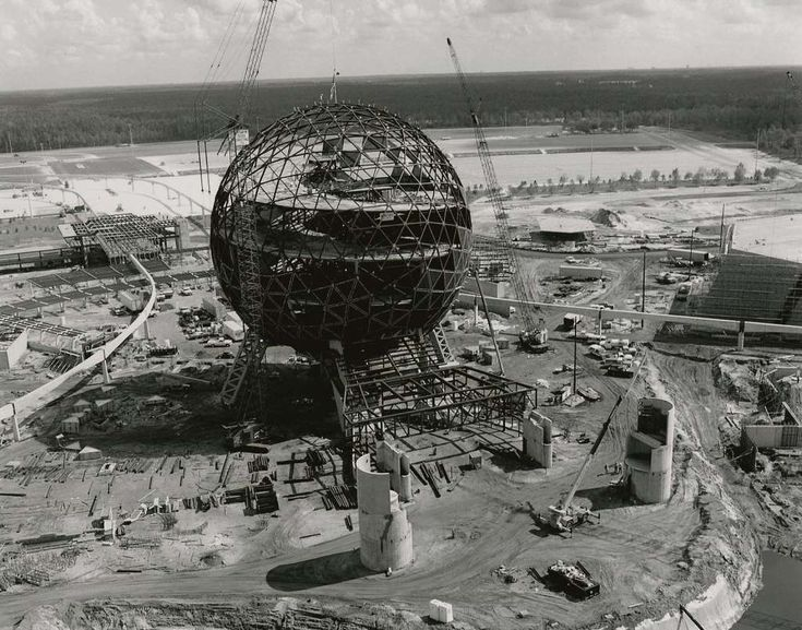 Disneyworld Epcot Center En construcción, 1982.