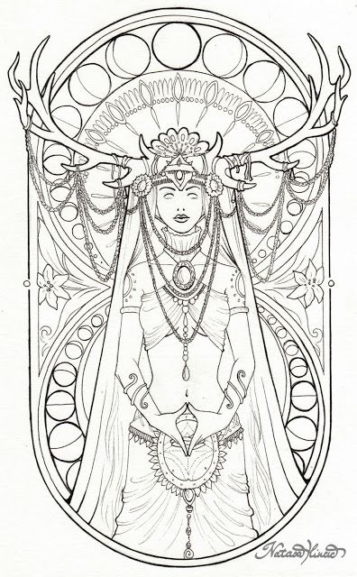free wiccan coloring pages - photo#16
