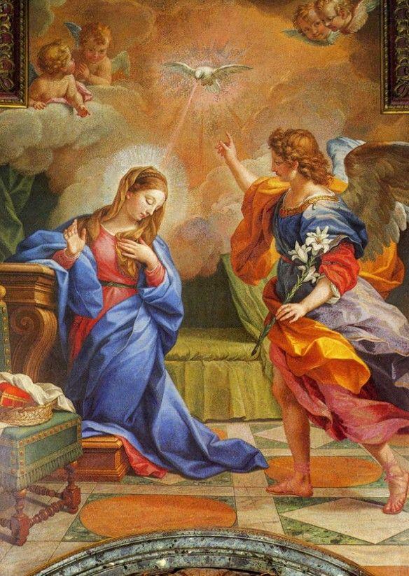 Anunciação   Mosaico de Mattia Moretti a partir de pintura de Agostino Masucci São Roque, Lisboa