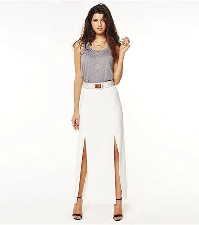 With this sexy maxi woven skirt, you're set to stun in the sun!