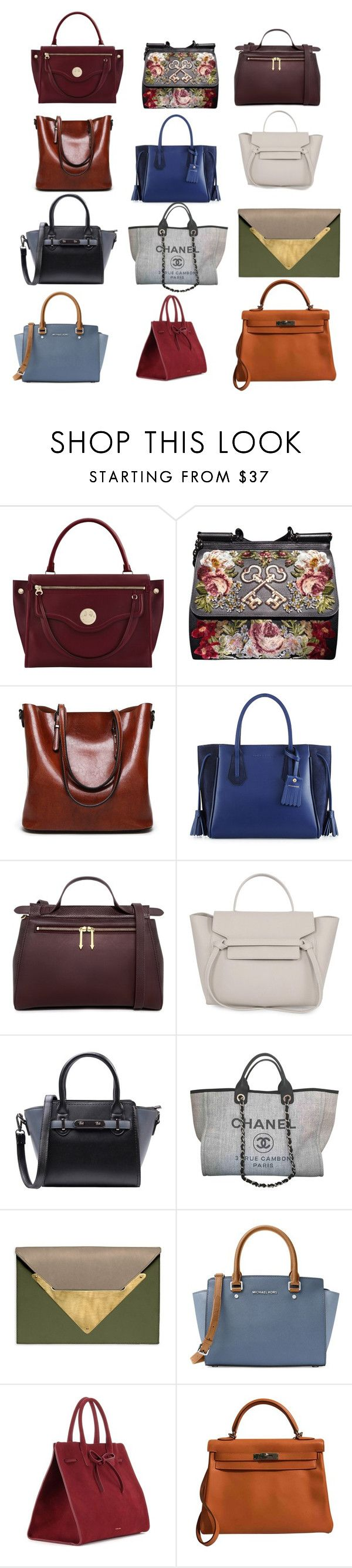 """Татьяна_сумки"" by sovan ❤ liked on Polyvore featuring Hill & Friends, Dolce&Gabbana, Longchamp, Karen Walker, Chanel, Dareen Hakim, MICHAEL Michael Kors, Mansur Gavriel and Hermès"