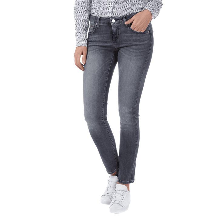 | #Cambio #Damen #Super #Slim #Fit #Jeans im #Used #Look