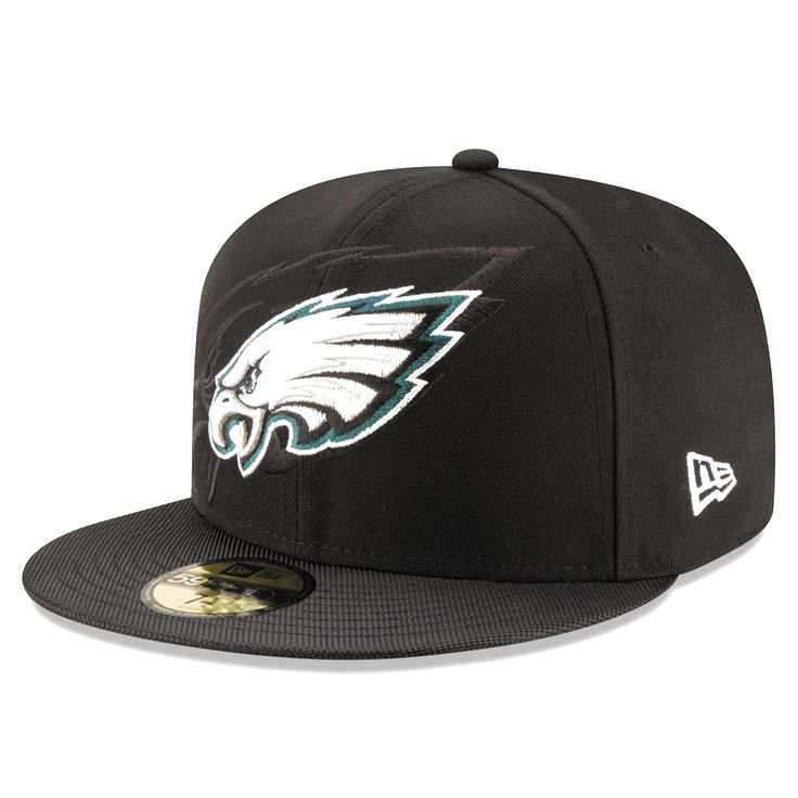 official photos 6f128 9e8e4 ... philadelphia eagles new era sideline official 59fifty fitted hat black  ...