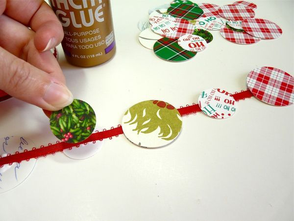 Christmas card garland - great idea for reusing cards