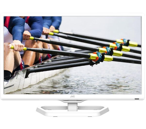 "Buy JVC LT-24C341 24"" LED TV with Built-in DVD Player - White 