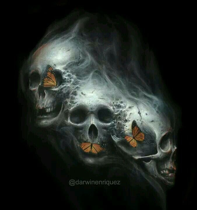 ~† Made By @darwinenriquez.DeviantArt.COM † DigitalArt.Com † See No Evil Speak No Evil Hear No Evil Skull Illusion
