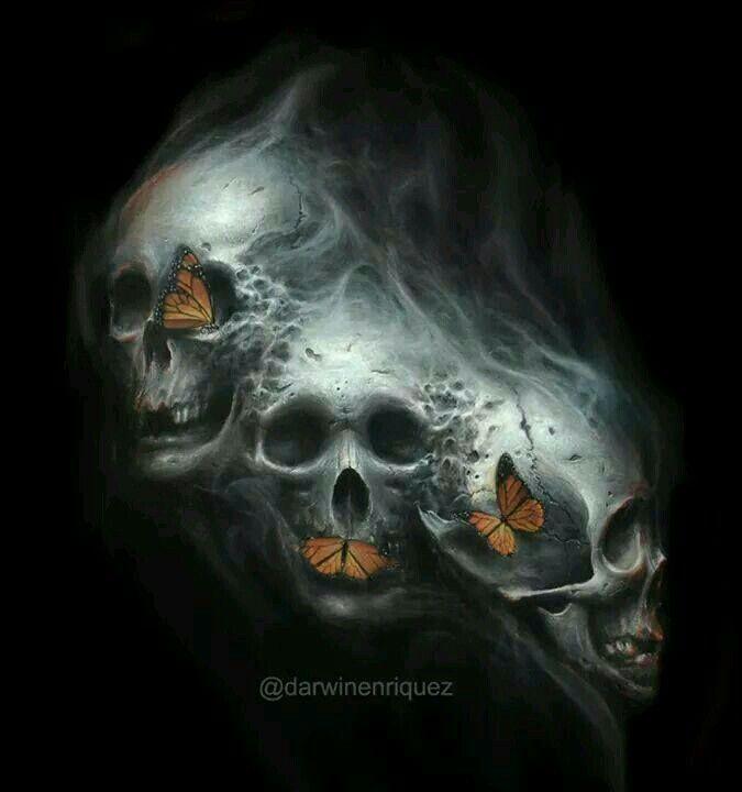 17 best images about dark gothic art skull art wicked