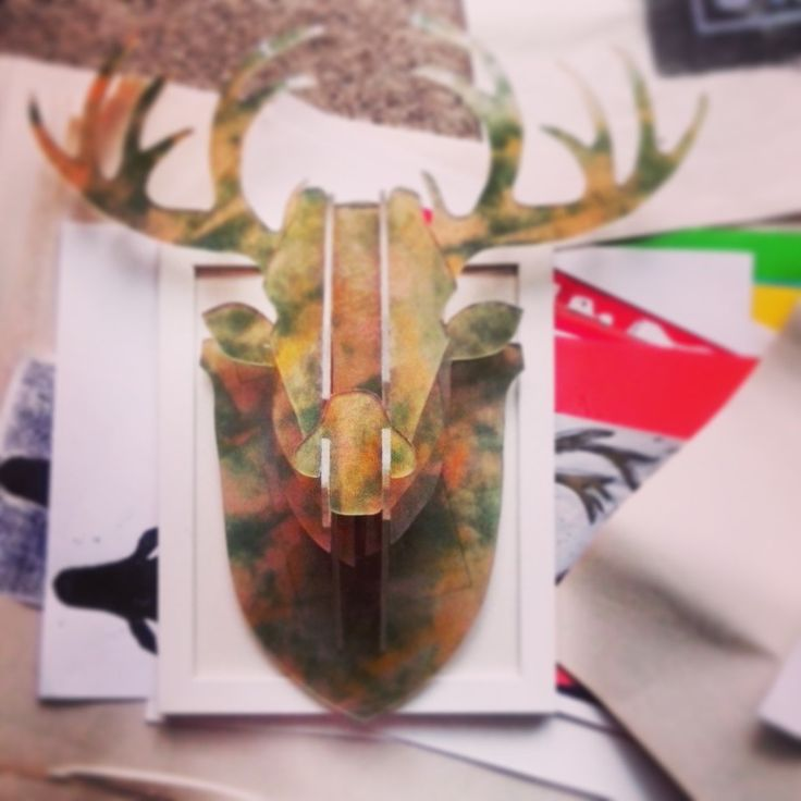 Dear head made from perspex
