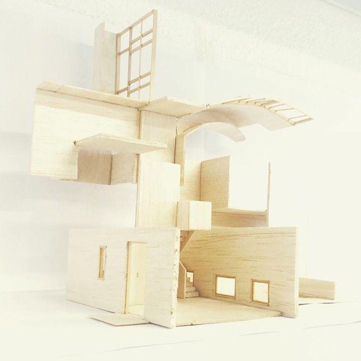 Ensamble de piezas de la obra del referente (Ville La Roche - Le Corbusier) para construir algo nuevo. (1:50)