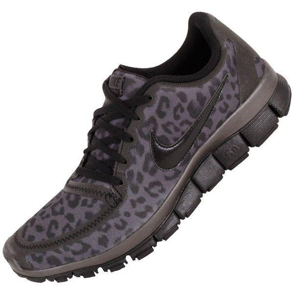 Nike Free Run 5.0 V4 Womens Running Shoes 511281-013 Dark Grey 6.5 M... ($140) ❤ liked on Polyvore