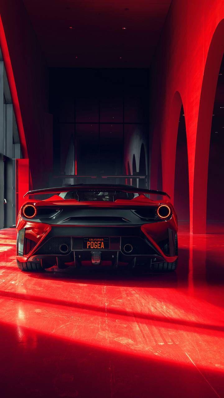 Super Red Car Red Car Car Wallpapers Black Car Wallpaper
