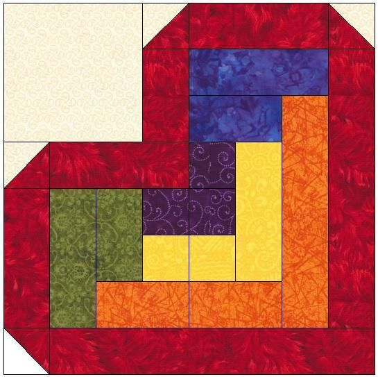 Pattern For Log Cabin Heart Quilt : Best 25+ Heart quilt pattern ideas on Pinterest Heart quilts, Heart block and Quilt patterns