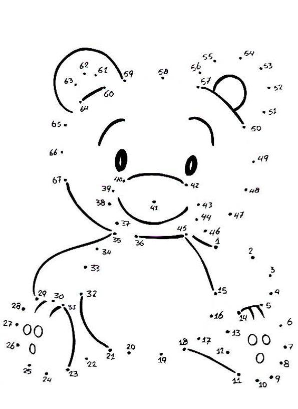 cijfertekenen beer