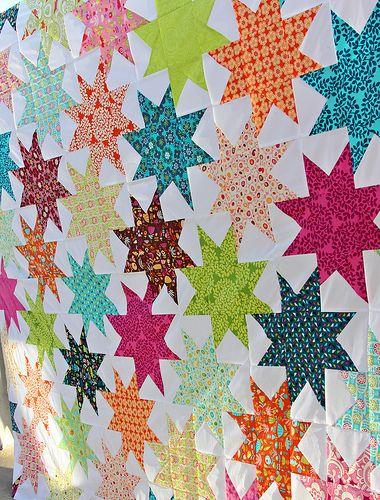 Interlocking star tutorialStars Quilt, Sloped Stars, Parks Sloped, Stars Tutorials, Star Quilts, Baby Boys, Baby Girls, Quilt Tutorials, Baby Quilt