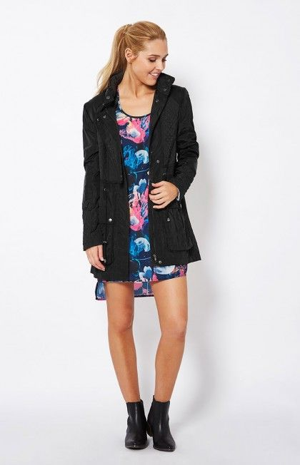 Black Kerry Quilted Jacket by SASS