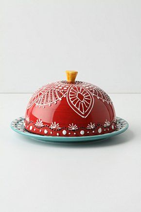 la boheme butter dish inspiration. I bet this could be done after a trip to the craft store...