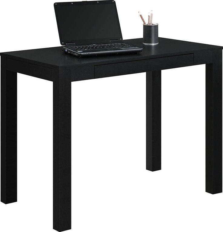 Writing Computer Desk Center Storage Drawer Home Office Study Den Hallway Black #AF #Modern